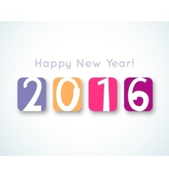 Happy New Year 2016 banner vector image vector image