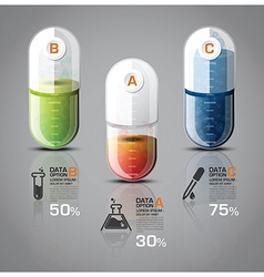 Healthcare and medical infographic pill capsule vector
