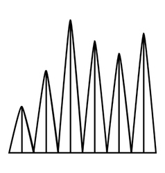Line graph icon outline style vector