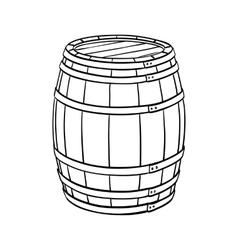 Line sketch of barrel vector