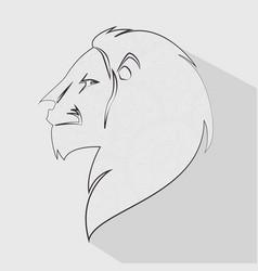 Lion head profile icon vector