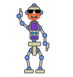 Mechanical robots train vector image vector image