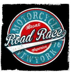 Motorcycle vintage logo emblem t shirt design vector
