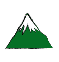 mount fuji japan landscape natural image vector image