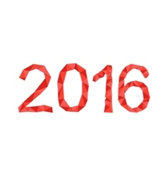 Polygonal 2016 year number vector