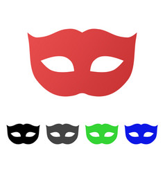 privacy mask flat gradient icon vector image