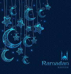 Ramadan kareem celebration greeting card vector