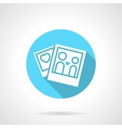 Round blue honeymoon flat icon vector