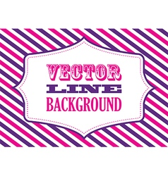 striped background pink and purple vector image vector image