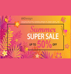 Summer super sale card vector