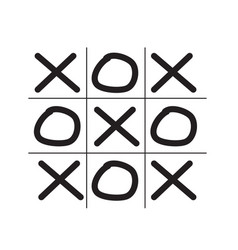 Tic tac toe game isolated on white background vector