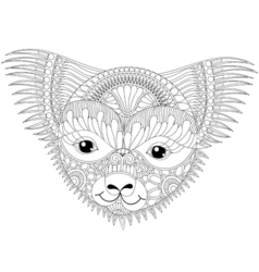 Zentangle happy friendly koala face for adult anti vector