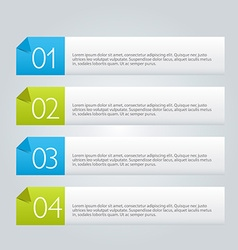 Infographic abstract banner template vector