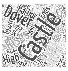 Dover castle word cloud concept vector