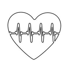 Figure symbol heartbeat icon stock vector