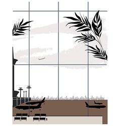 Airport Window View vector image