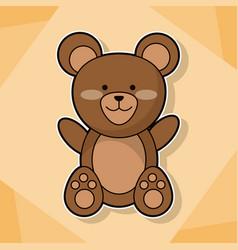 cute teddy baby animal cartoon image vector image