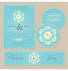 wedding set blue vector image