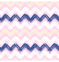 Hand painted chevron pattern vector