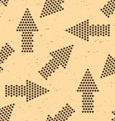 Seamless pattern with vintage arrows made of stars vector