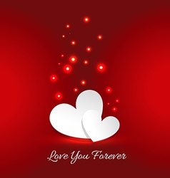Love you forever card vector