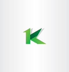 Letter k green icon logo symbol design vector