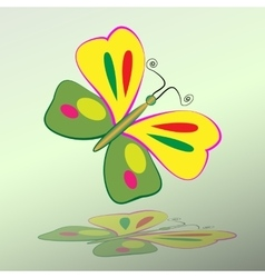 Butterfly icon colorful silhouette with shadow vector