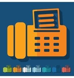 Flat design fax vector