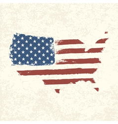 american flag shaped country vector image vector image