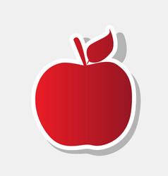 Apple sign new year reddish vector