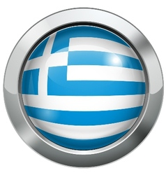 Argentina flag metal button vector image vector image