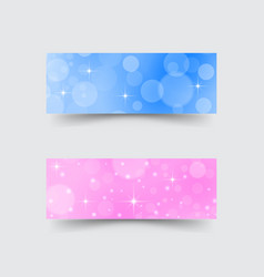 banners with abstract circles and stars vector image vector image