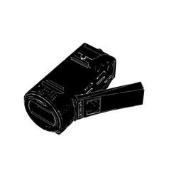black amateur camcorder vector image