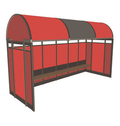bus stop background icon design flat street city vector image vector image