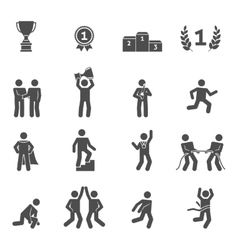 Competition icons black vector