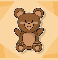 Cute teddy baby animal cartoon image vector
