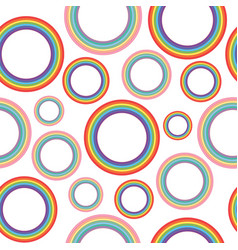 Different pastel rainbow circles - oldschool vector