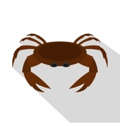 Edible brown crab icon flat style vector