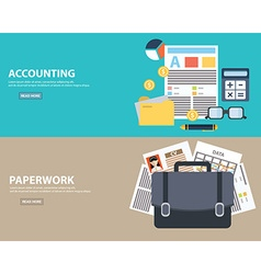 Flat style business accounting and paperwork vector