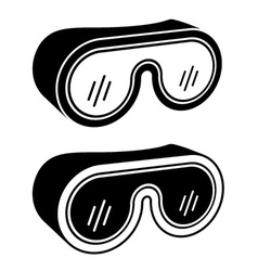 Goggles safety glasses black symbol vector