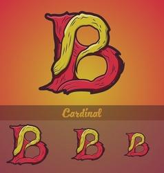 Halloween decorative alphabet - b letter vector