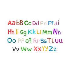 handmade plasticine alphabet english colorful vector image