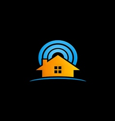 House radar security logo vector