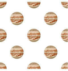 Jupiter icon in cartoon style isolated on white vector