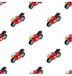 motorcycle icon in cartoon style isolated on white vector image