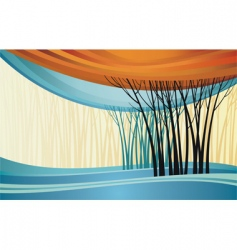 nature theme background vector image