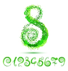 Number from 0 to 9 vector image