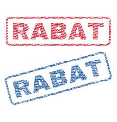 Rabat textile stamps vector