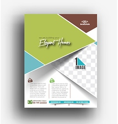 Real Estate Agent Flyer Poster Template vector image vector image