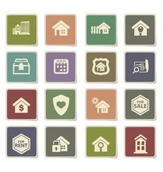 Real estate icon set vector